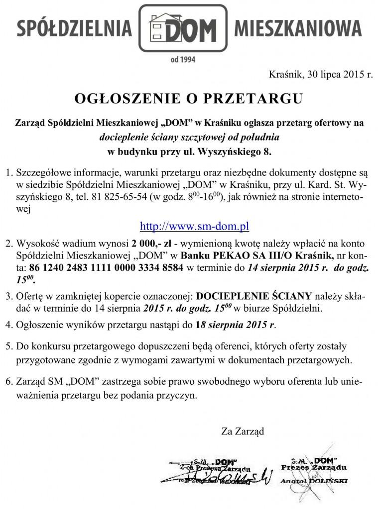 Ogłoszenie o przetargu_docieplenie_W8
